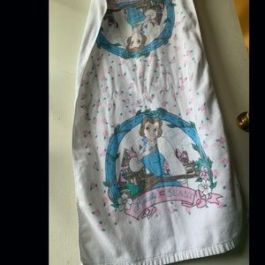 Beauty and the beast vintage towel